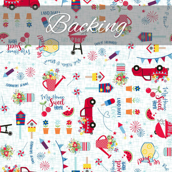 Red, White, & Bloom Quilt Kit - Backing - 1½ yds