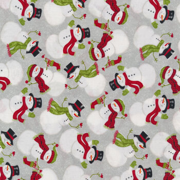 Snow Merry 5689-98 Multi Tossed Snowmen by Studio E Fabrics