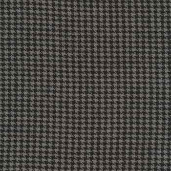 Woven Wools W1100-BLACKGRAY Houndstooth Black Gray by Riley Blake Designs