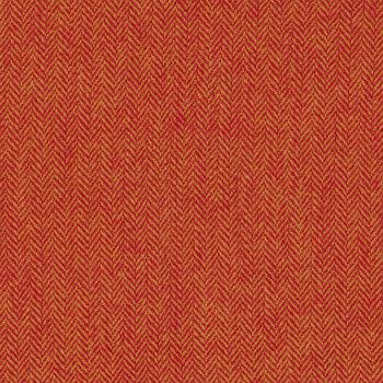 Woven Wools W1102-ORANGE Herringbone Orange by Riley Blake Designs