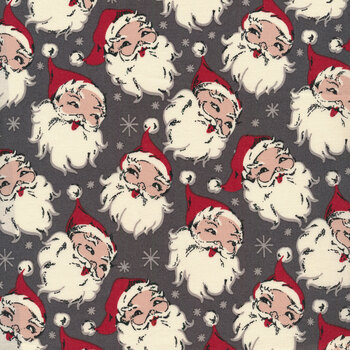 Christmas at Buttermilk Acres C10900-CHARCOAL Santa Charcoal by Riley Blake Designs