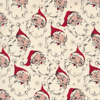 Christmas at Buttermilk Acres C10900-CREAM Santa Cream by Riley Blake Designs