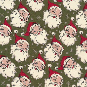 Christmas at Buttermilk Acres C10900-GREEN Santa Green by Riley Blake Designs