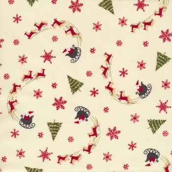 Christmas at Buttermilk Acres C10902-CREAM Sleigh Cream by Riley Blake Designs