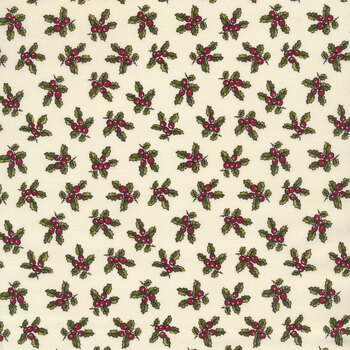 Christmas at Buttermilk Acres C10903-CREAM Holly Cream by Riley Blake Designs