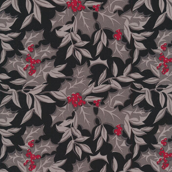 Christmas at Buttermilk Acres C10901-BLACK Winterberry Black by Riley Blake Designs