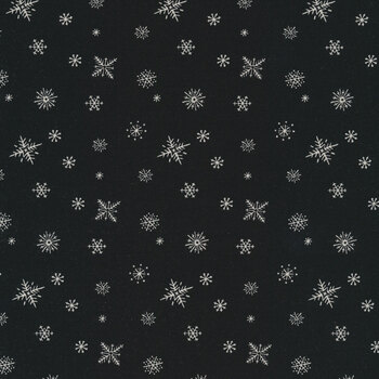 Christmas at Buttermilk Acres C10909-BLACK Snowflakes Black by Riley Blake Designs