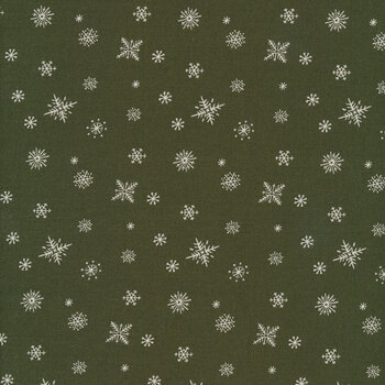 Christmas at Buttermilk Acres C10909-GREEN Snowflakes Green by Riley Blake Designs