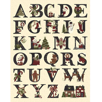 Christmas at Buttermilk Acres P10910-PANEL Alphabet Panel by Riley Blake Designs