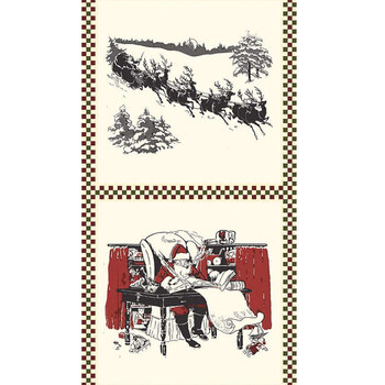 Christmas at Buttermilk Acres P10912-PANEL Pillow Panel Sleigh by Riley Blake Designs