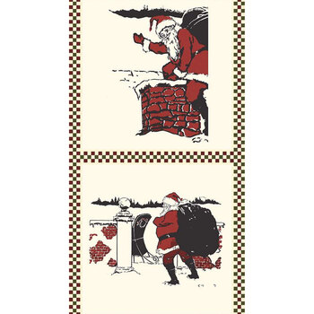 Christmas at Buttermilk Acres P10914-PANEL Pillow Panel Santa by Riley Blake Designs
