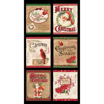 Postcard Holiday 4439-PA Holiday Panel by P&B Textiles