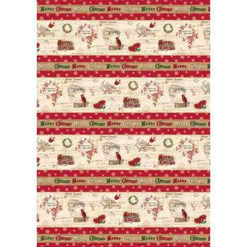Postcard Holiday 4447-MU Holiday Stripe by P&B Textiles