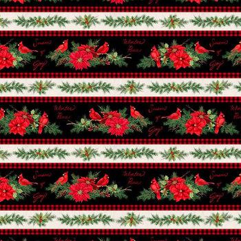 Season of Heart 39699-931 Repeating Stripe Multi by Wilmington Prints