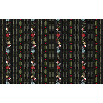Snowdays Flannel 9932-JK Border Stripe by Maywood Studio