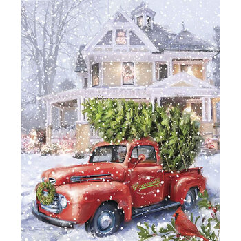 Christmastime is Here P10743-DELIVERY Christmas Delivery Panel by Riley Blake Designs