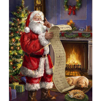 Christmastime is Here P10744-NICE Naughty or Nice Panel by Riley Blake Designs