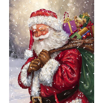 Christmastime is Here P10745-JOLLY Jolly Old St Nick Panel by Riley Blake Designs