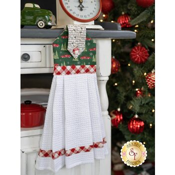 Hanging Towel Kit - Homegrown Holidays - Green With Trucks