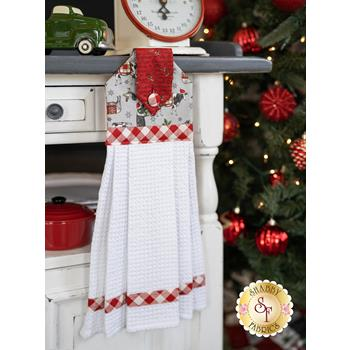 Hanging Towel Kit - Homegrown Holidays - Gray With Animals